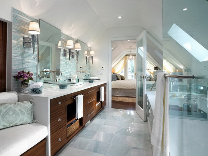 Collard Homes master suite in an attic.