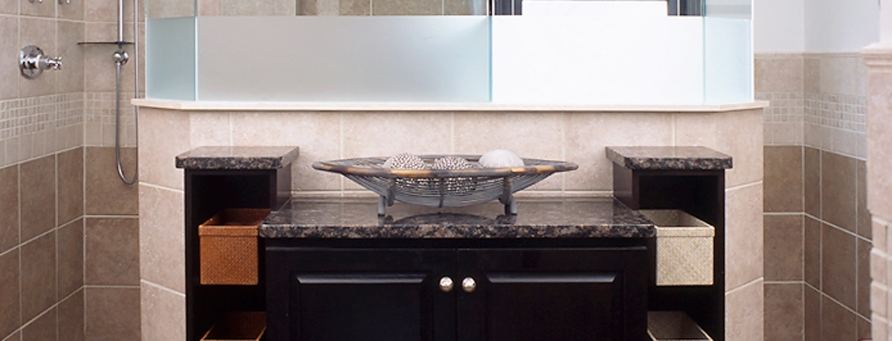 Clark Construction of Ridgefield's award winning master bath remodel with a Japanese flair.