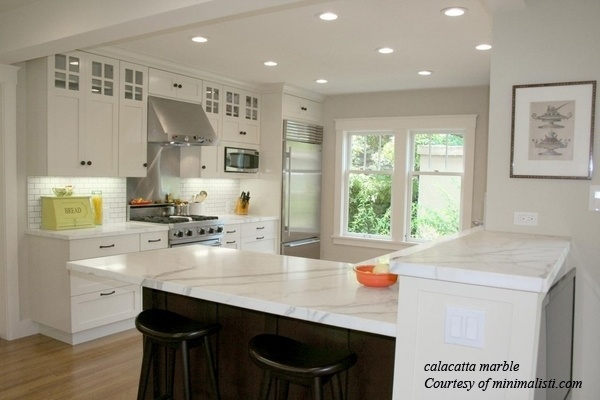 Kitchen Counter Marble marble Calacatta Marble Kitchen Countertops Kitchen Remodel Ideas White