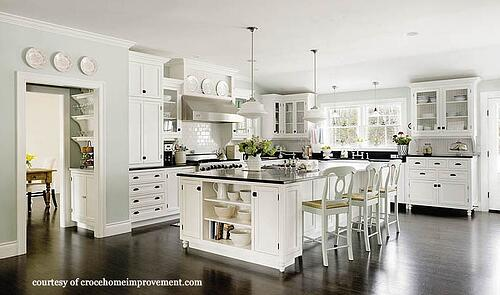 White kitchen designed and built by NJ's Charlie Croce Home Improvement