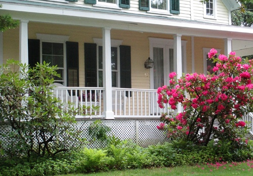 Front porch design in Ridgefield CT is a classic style.