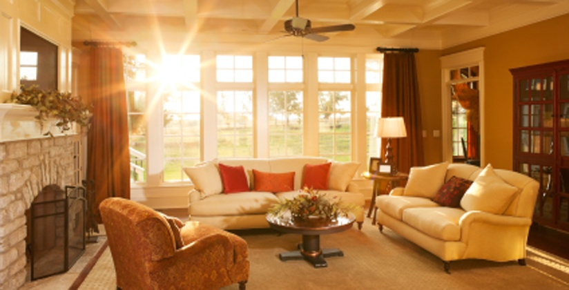 Great room renovations with lots of natural light and a fireplace.