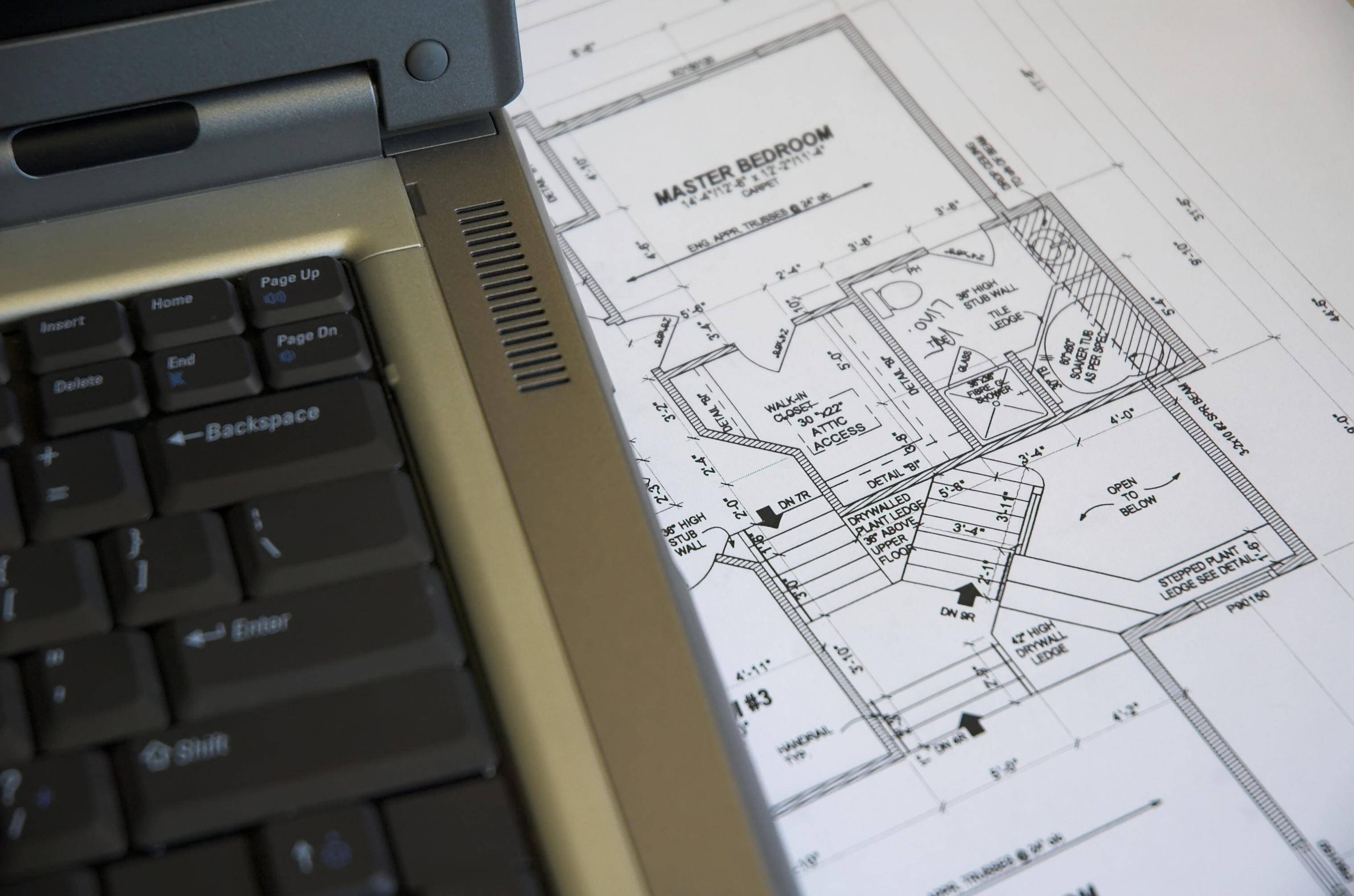 design of master suite adjacent to a computer