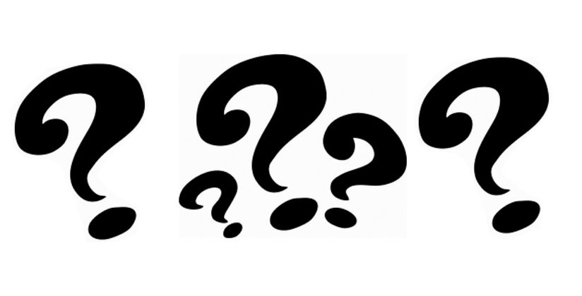 Question marks in black and white denote remodeling and building questions.