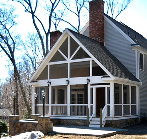 Ridgefield CT Screened Porch Addition