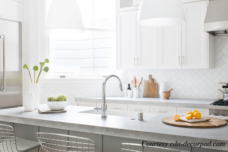 Thick Gray Marble Countertops Kitchen Backsplash Patterns Cdn Decopad2