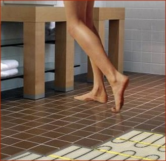 Radiant floor heat in bathrooms is a popular remodeling choice with Clark Construction clients.