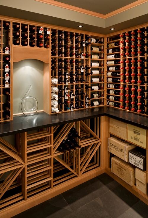 Basement wine room: Wine cellars  are popular basement remodeling projects.