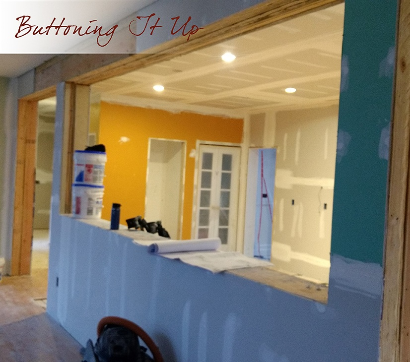 Buttoning up sheetrock kitchen makeover