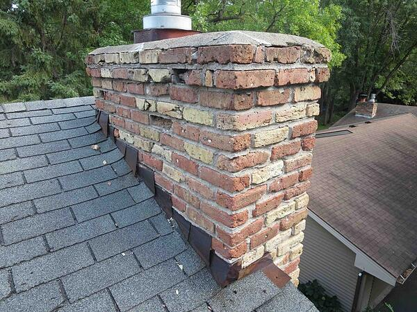 Chimneywith brick issue