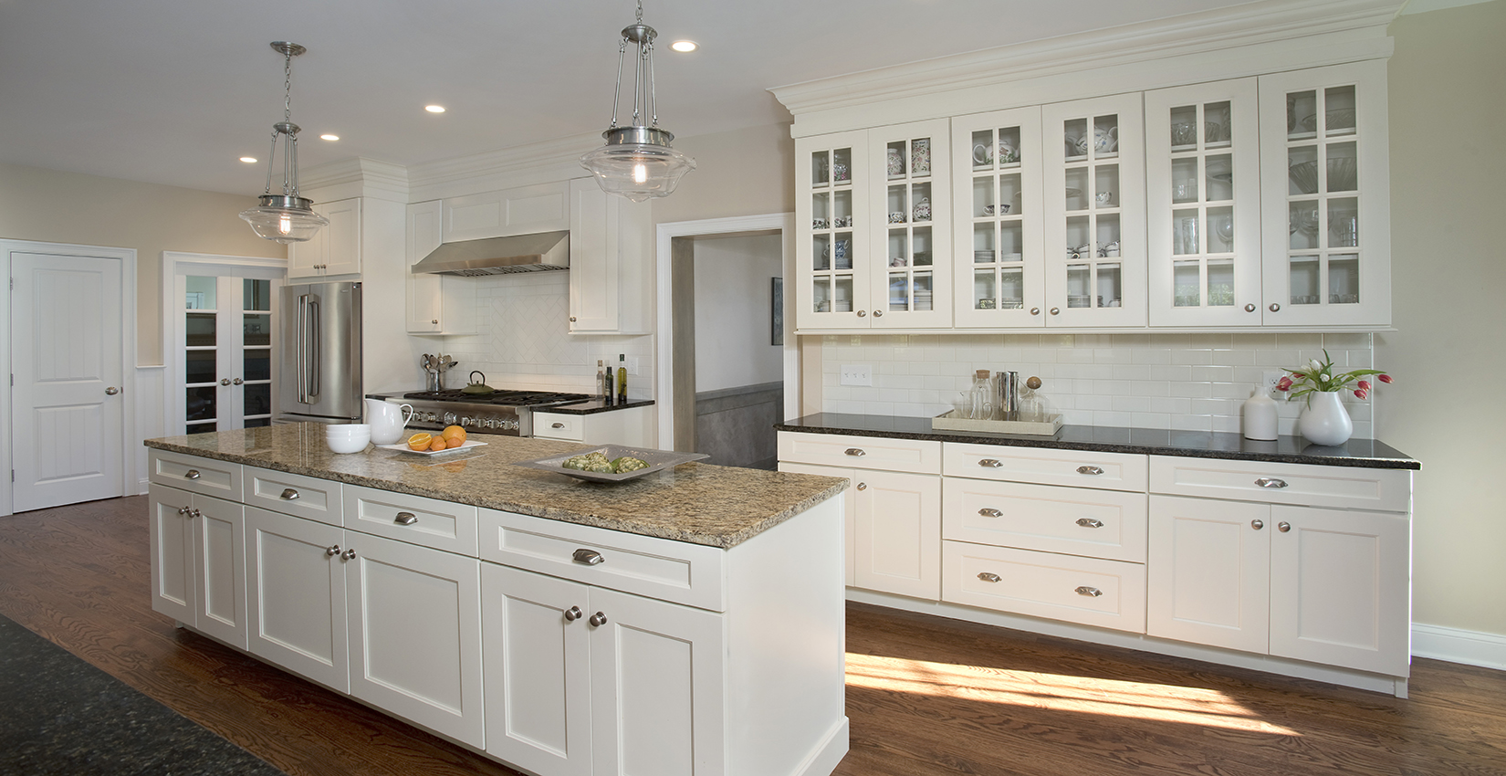Bright remodeled kitchen by clark construction in Fairfield County