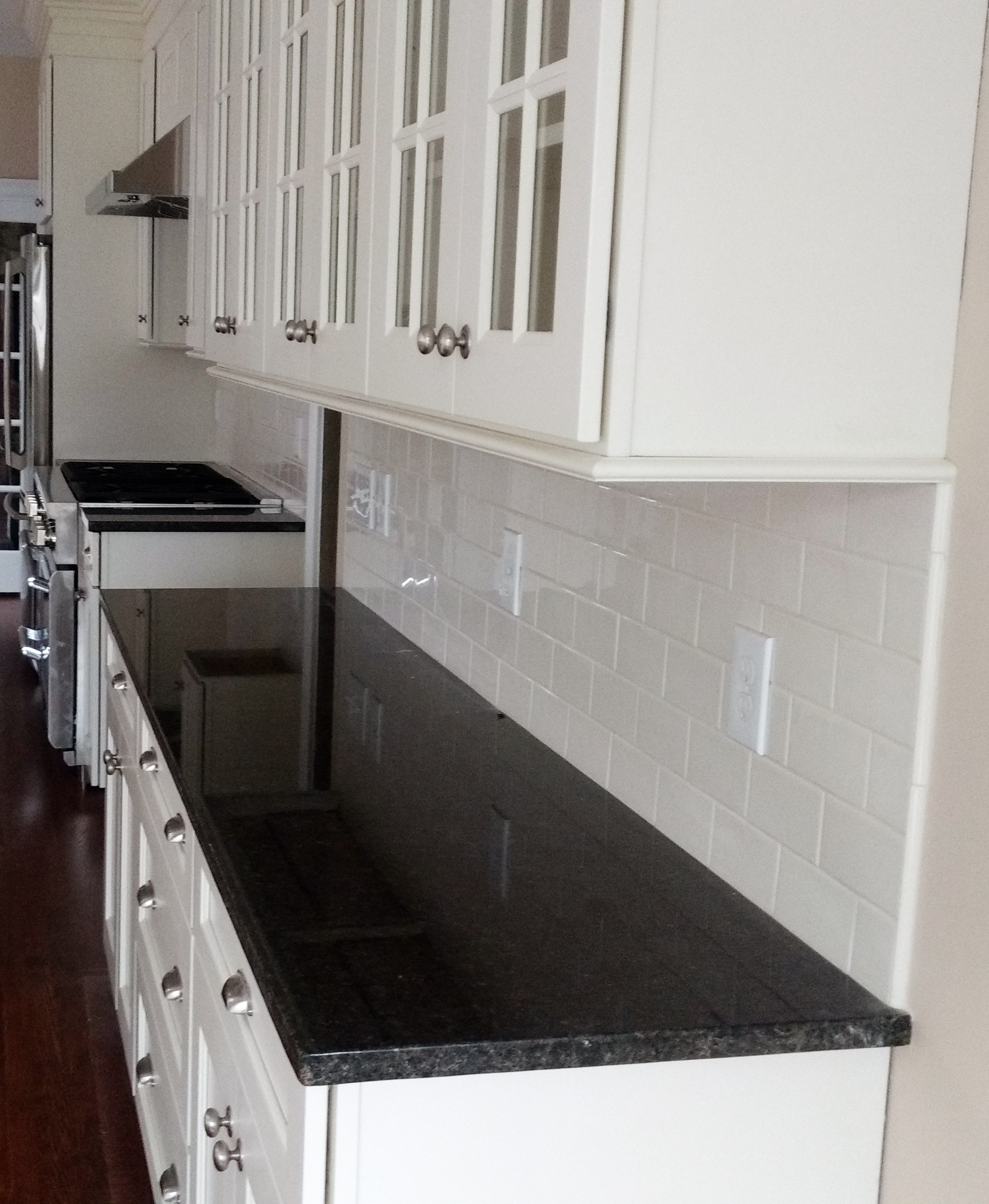 clean backsplash subway tile kitchen remodel