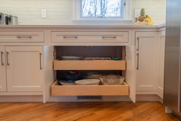 Kitchen Dual Cabinet Sliding Drawers