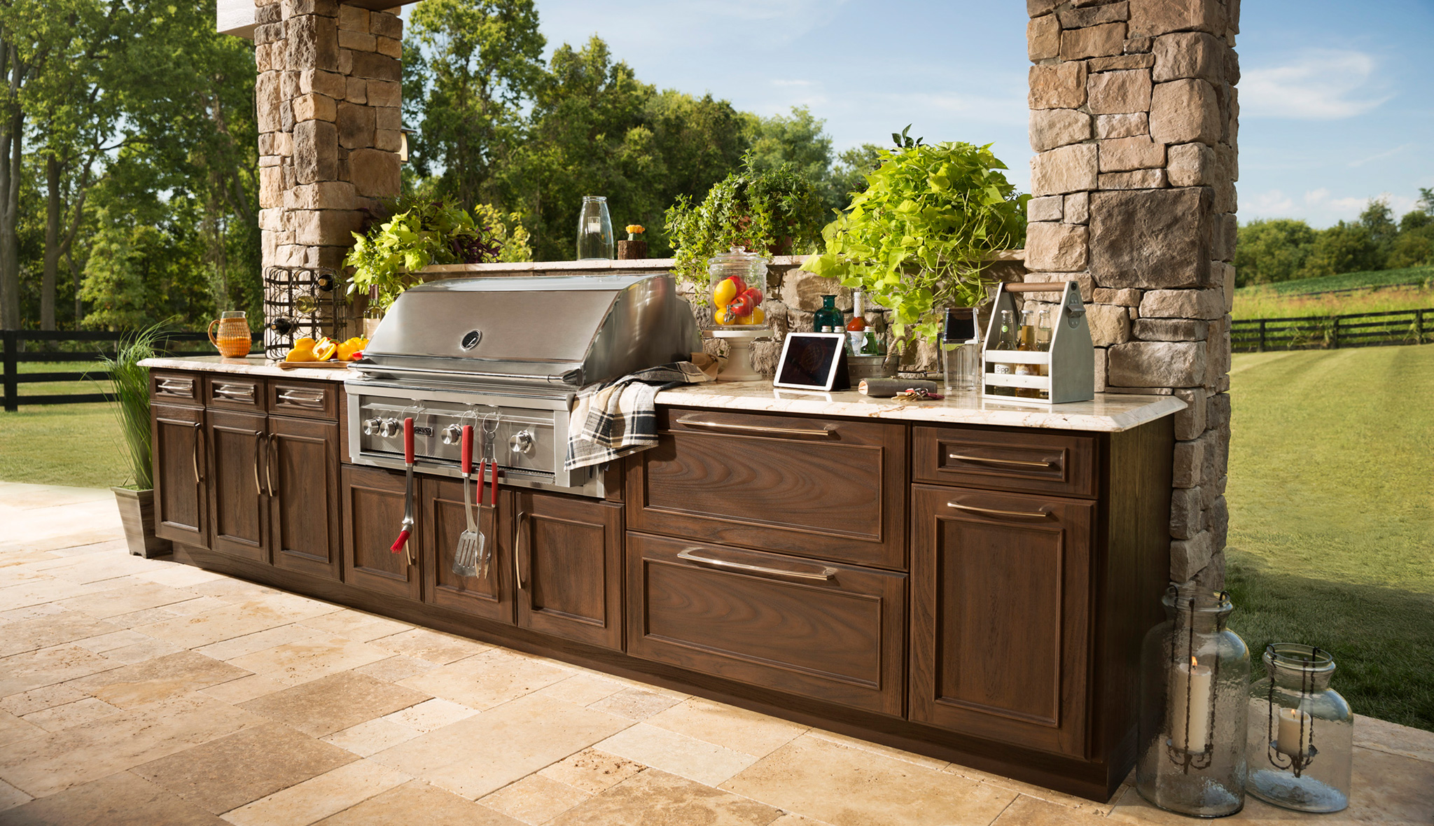 TREX outdoor kitchen cabinets