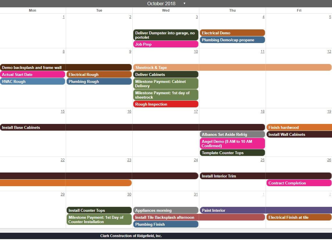 Schedule screenshot