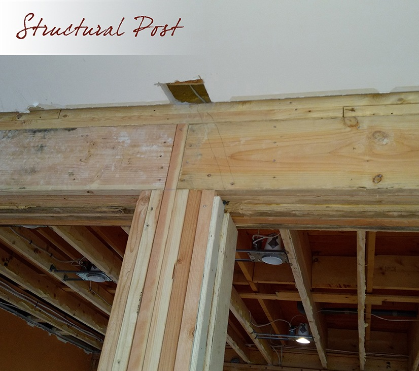 Structural Post kitchen remodel work