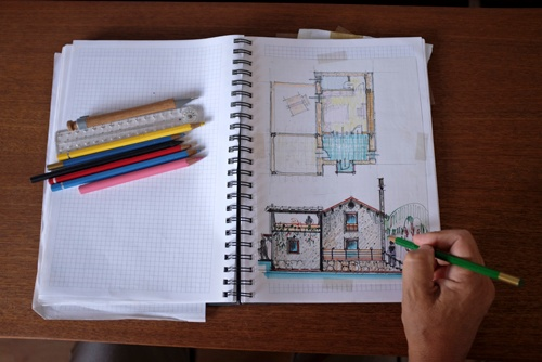 whole-house-remodeling-architectural-sketch
