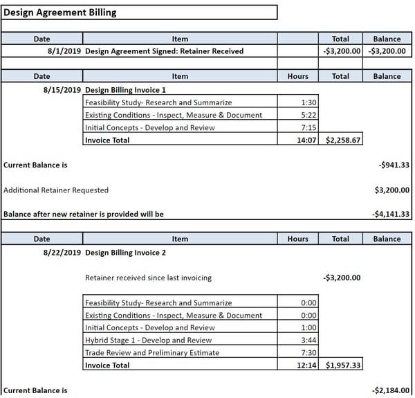 design billing 3