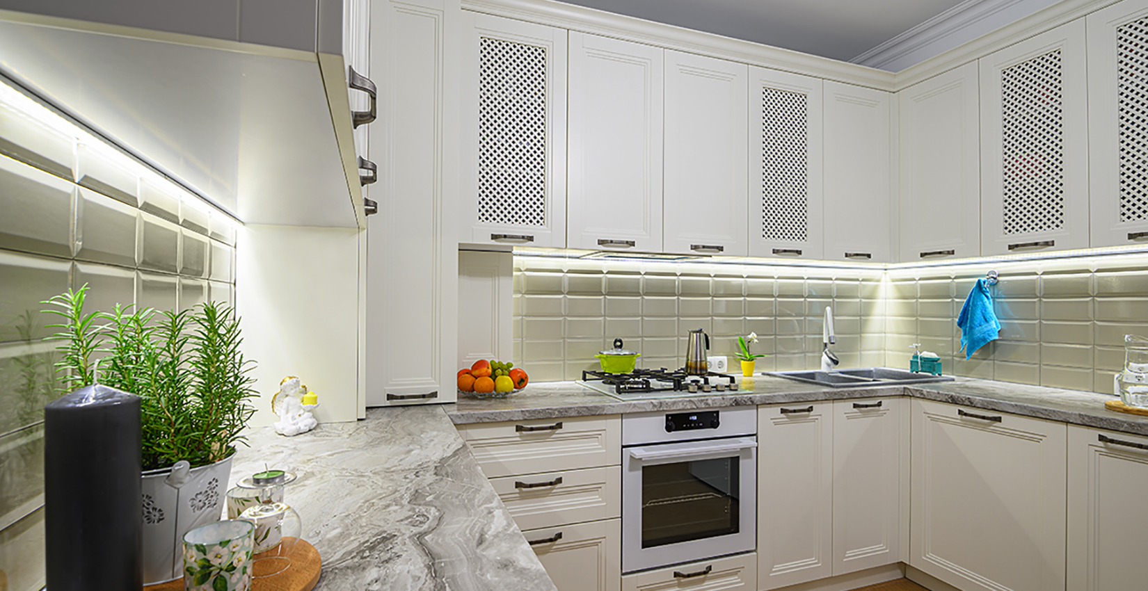 Adding task lighting in the Kitchen is an excellent choice in home renovation.