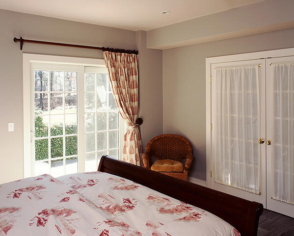 Beautiful spacious guest suite bedroom in the basement with plenty of natural light.