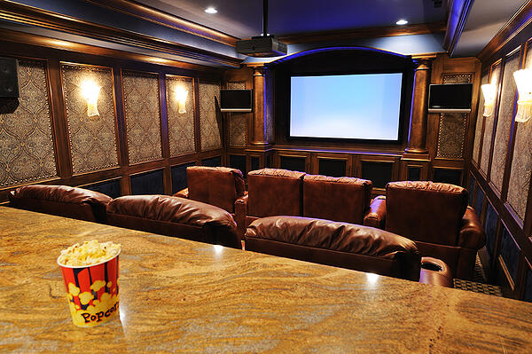 Build your own movie theater at home, customized with leather seats, surround sound and hi-def widescreen TV.