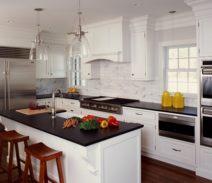 Clark Construction traditional white kitchen New Canaan CT