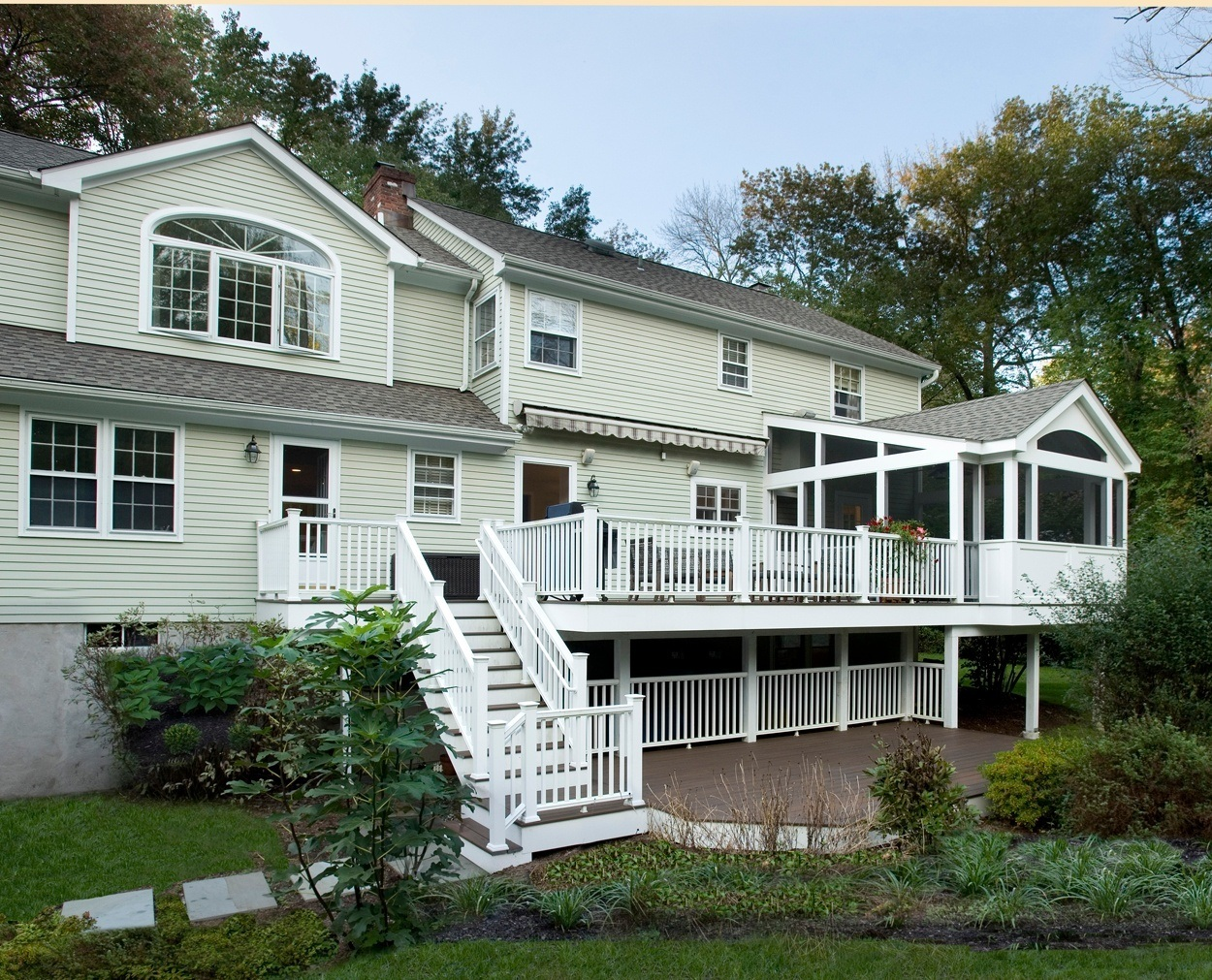 Screened porch addition and Trex deck, Wilton CT