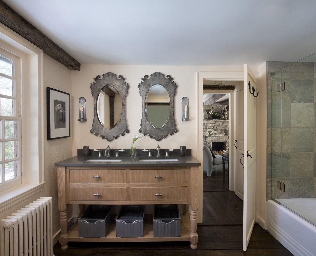Custom Grabill vanity in Redding Bath redo