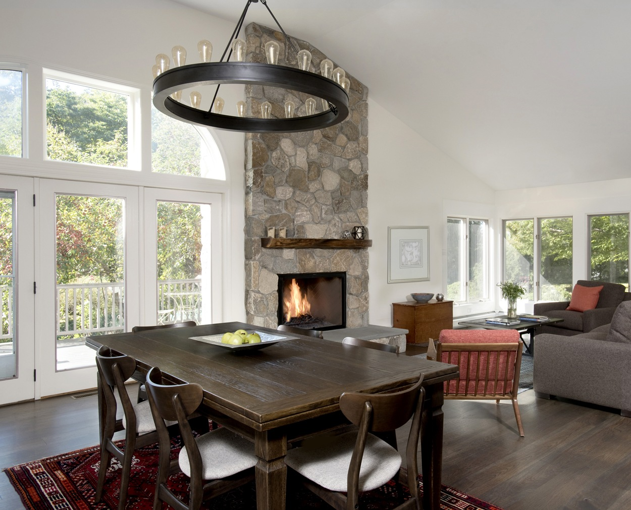 Whole house renovation with great room and fireplace
