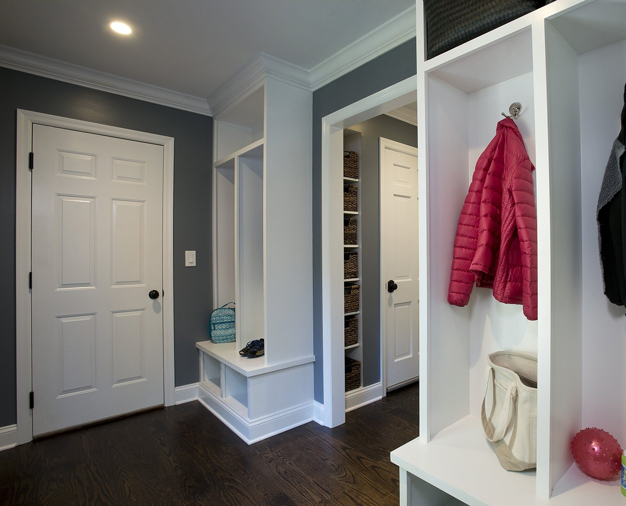 Wilton CT whole house renovation includes a mudroom built-in