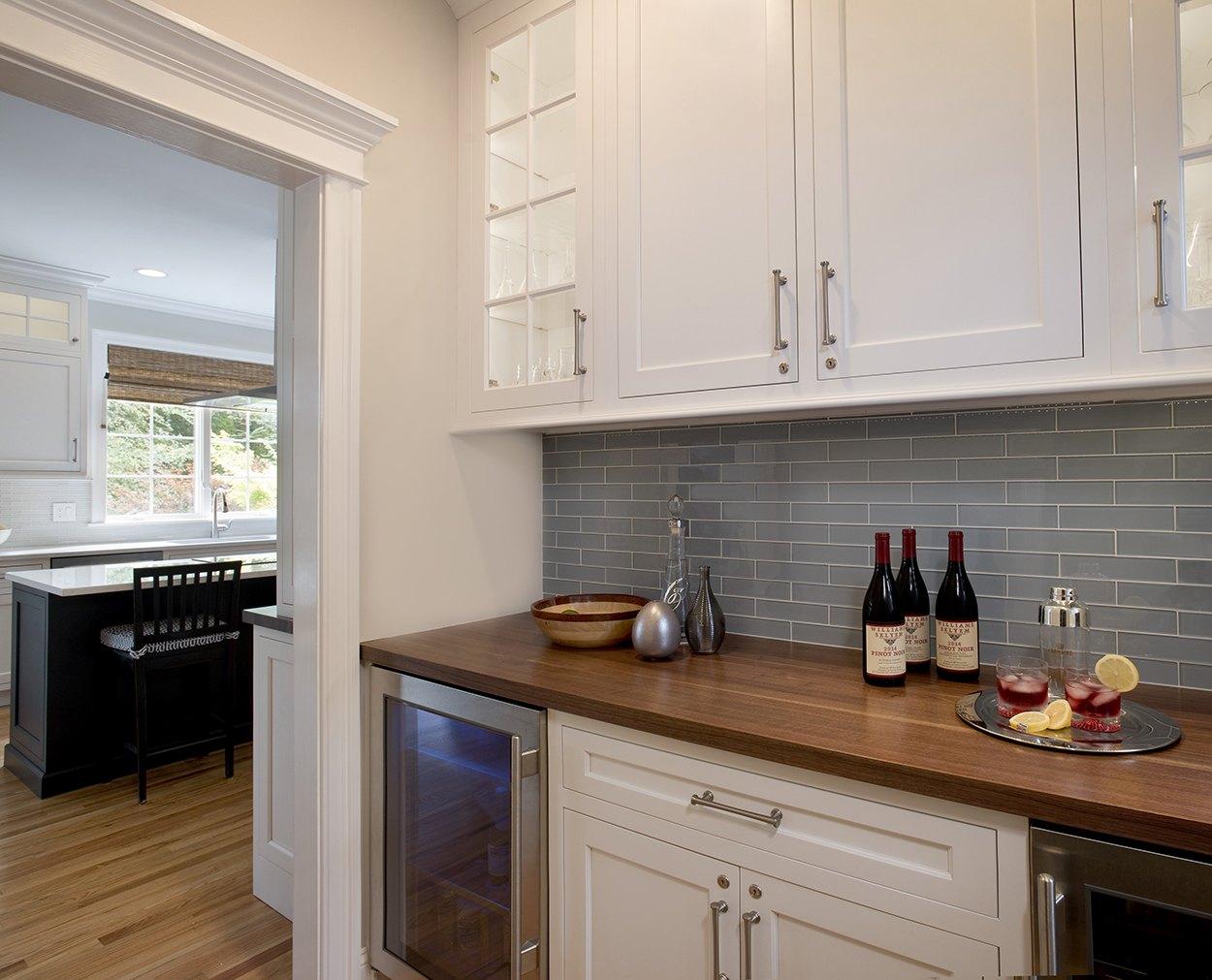 Butler's pantry in Ridgefield CT Clark Construction redesign