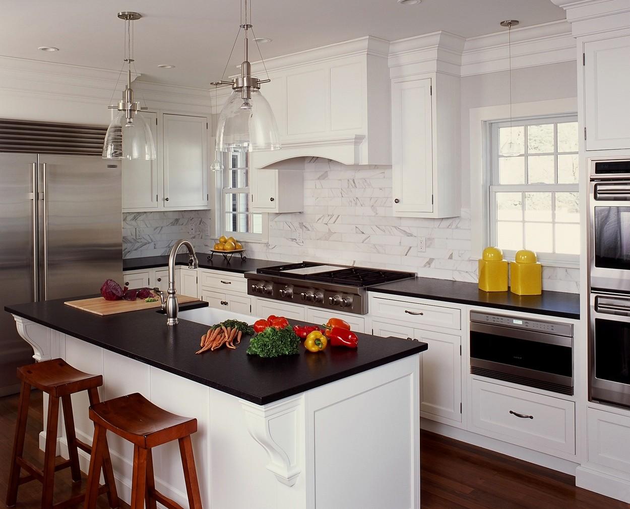 Clark Construction's Chrysalis award winning kitchen in New Canaan CT