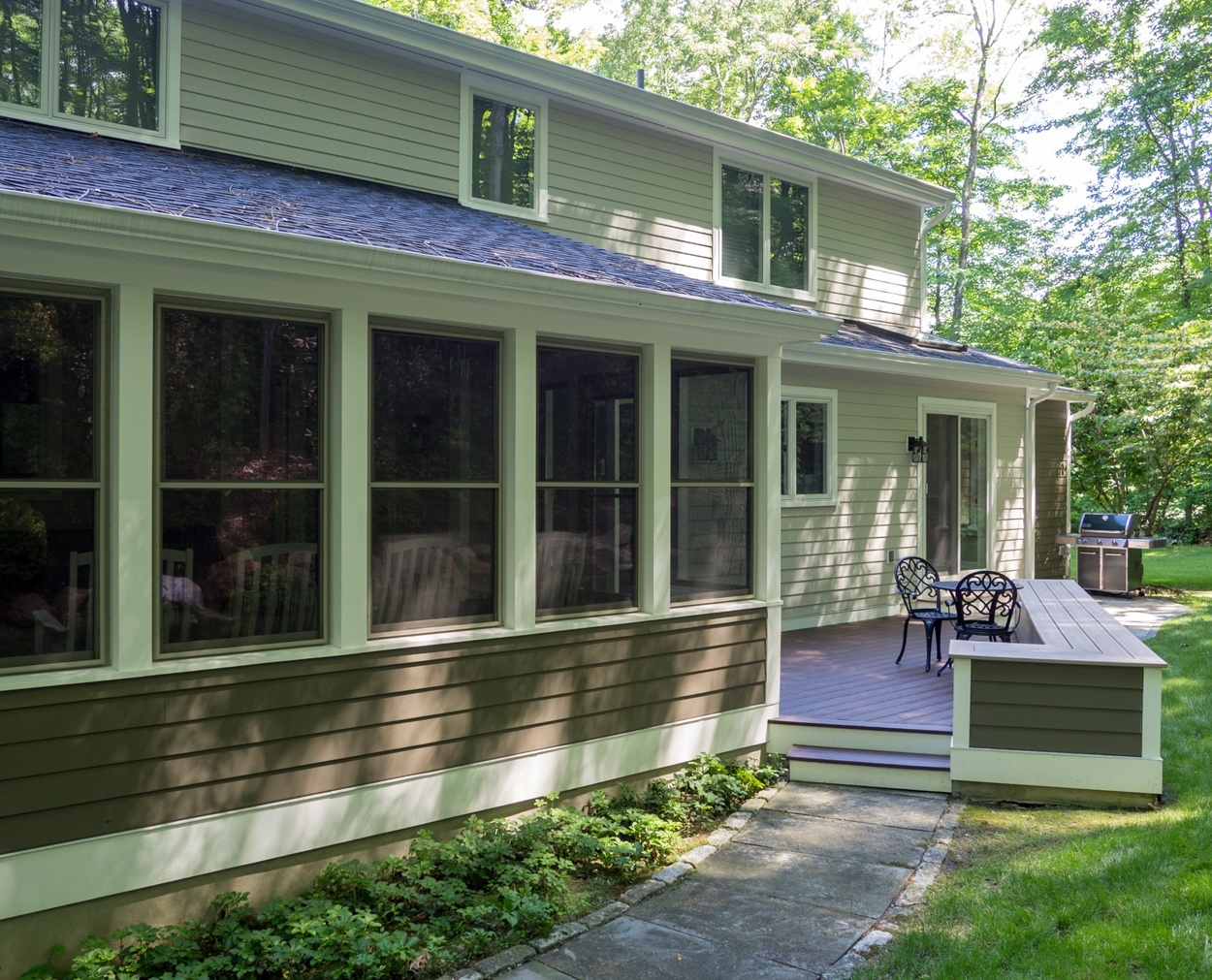 screened porch and trex deck in Ridgefield CT